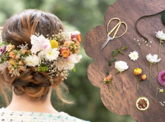 Cute ways to use flowers: Floral crown or a piece of art with flowers